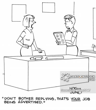 Image result for CARTOON IMAGES LOOKING AT A JOB POSTING