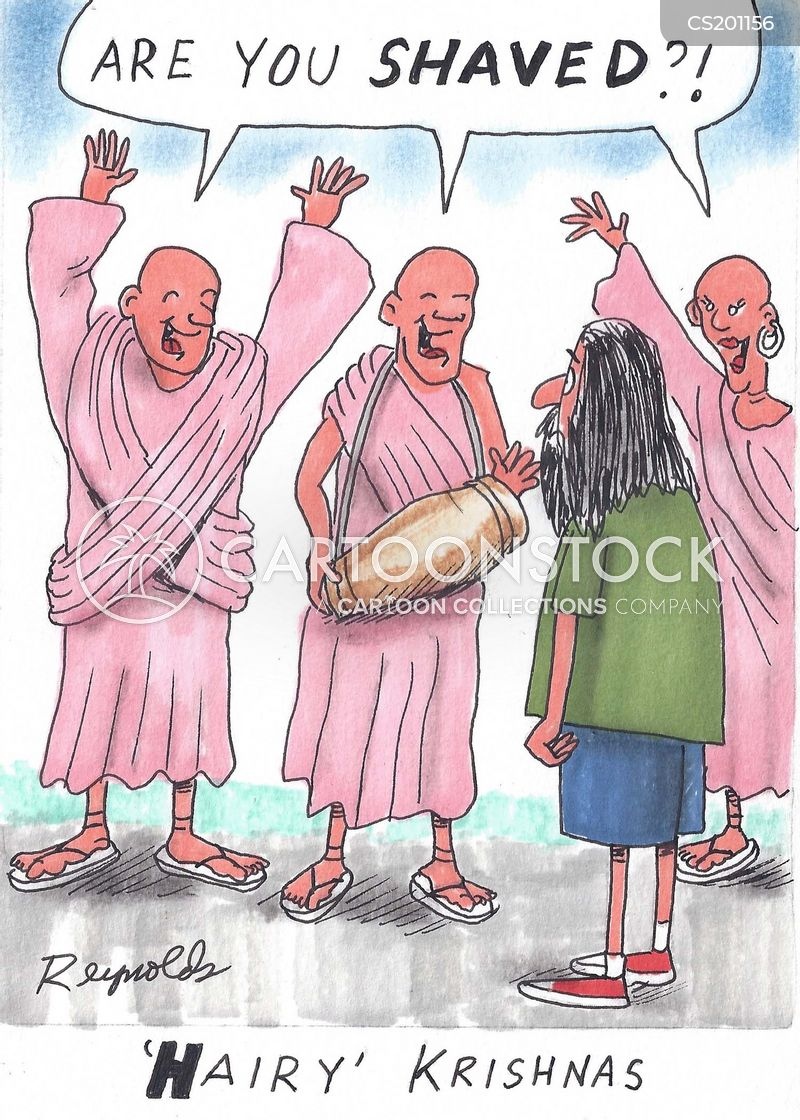 Hare Krishna Cartoons And Comics Funny Pictures From Cartoonstock