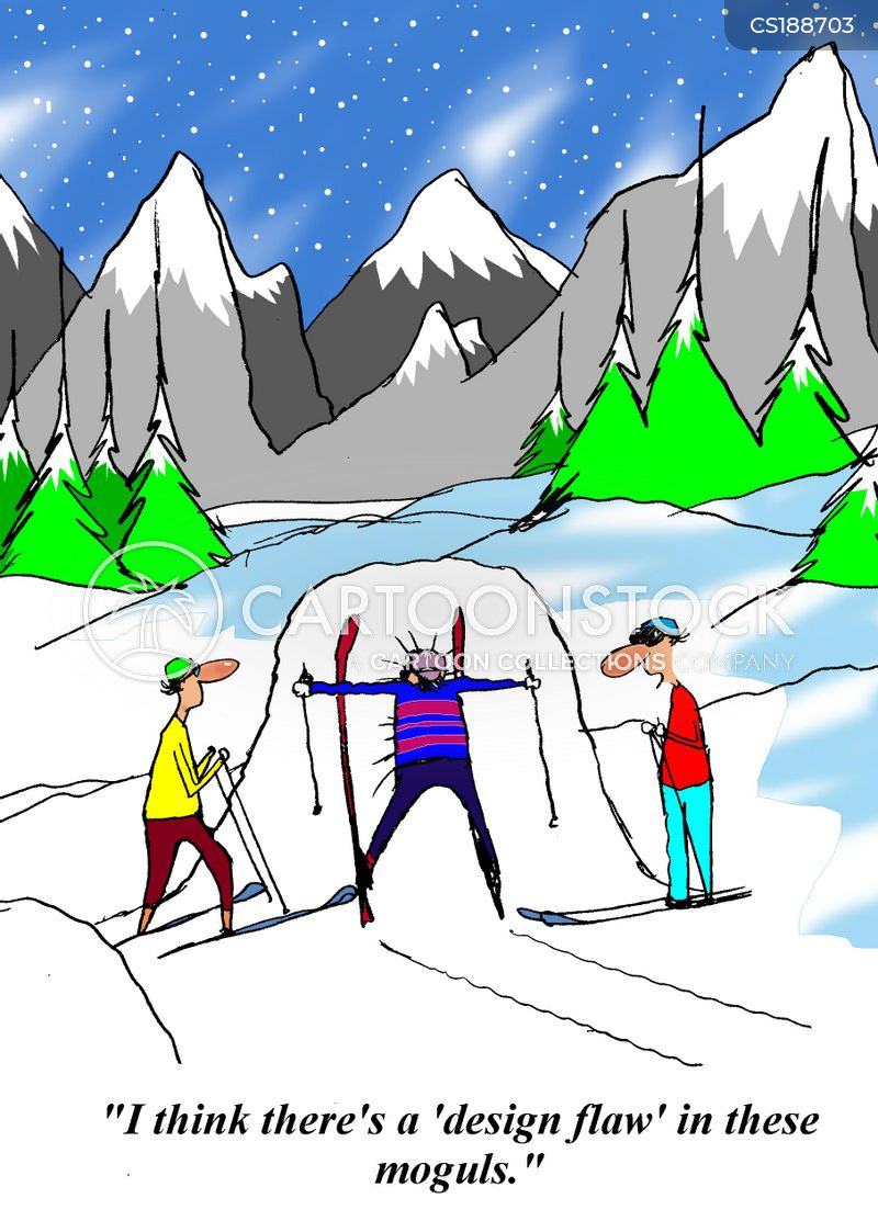 Ski Ers Cartoons And Comics Funny Pictures From CartoonStock