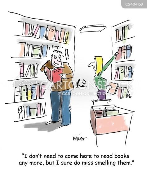 Image result for smell of books cartoon