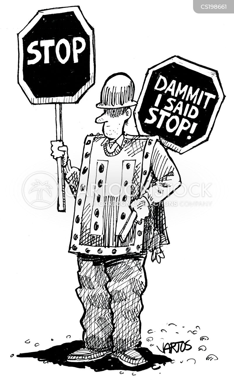 Traffic Direction Cartoons And Comics Funny Pictures From Cartoonstock