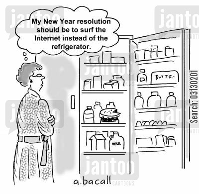 new year's resolution cartoons - Humor from Jantoo Cartoons