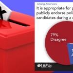 endorse politician church banner