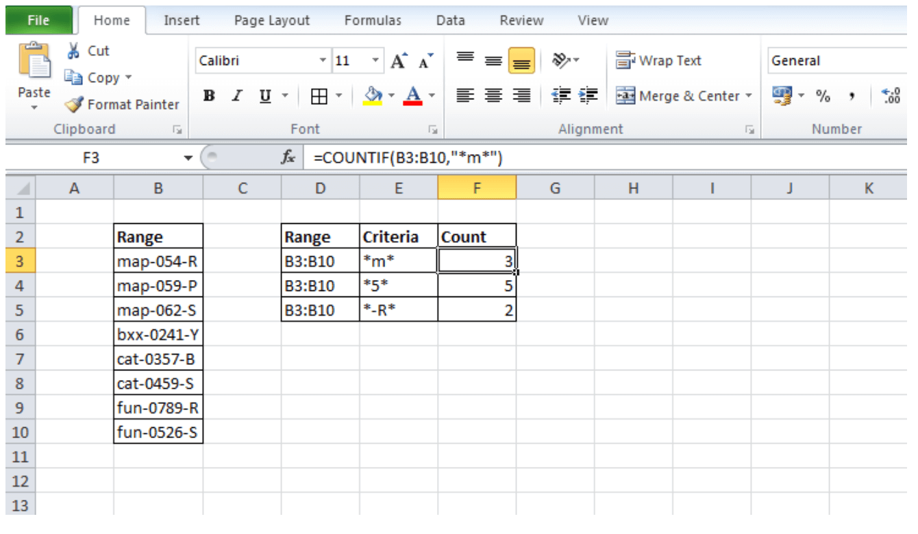 Count Specific Words In A Range Of Cells Excel