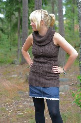 Coffee Tunic by Mira Saarentaus