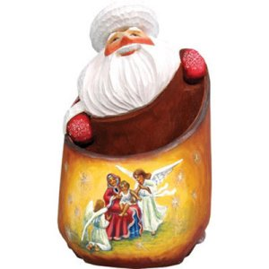 The 42 worst nativity sets whyismarko in santas bag or does santa have an nice applique of the holy family on his bag of gifts and what can the letters in santa be re arranged to spell spiritdancerdesigns Image collections