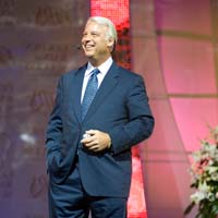 Jack Canfield, master of success habits and author of The Success Principles, on stage