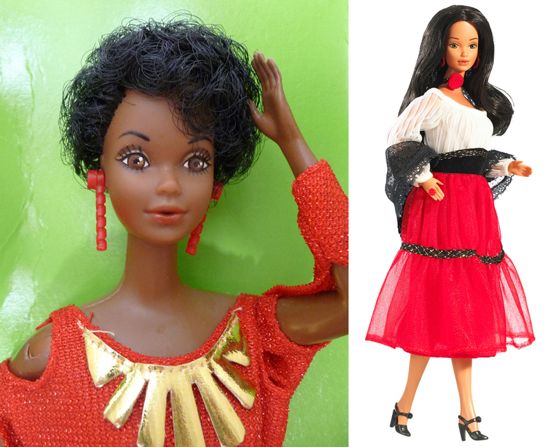 black barbie hispanic 1980