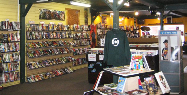 Photo depicts Super-Fly Comics & Games in Yellow Springs, Ohio