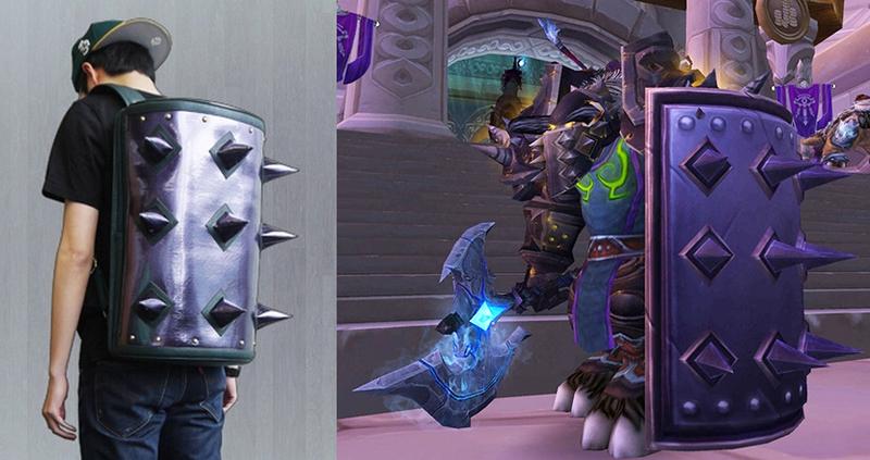 world of warcraft Bulwark of Azzinoth backpack replica shield