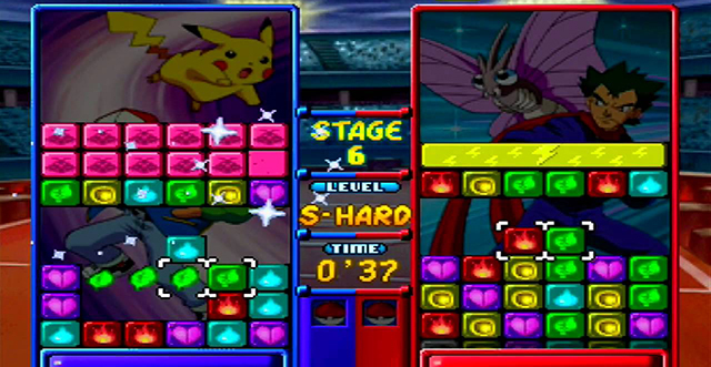 Pokemon Puzzle League gameplay