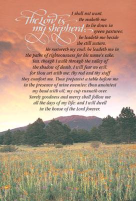 Standard Funeral Bulletin The Lord Is My Shepherd