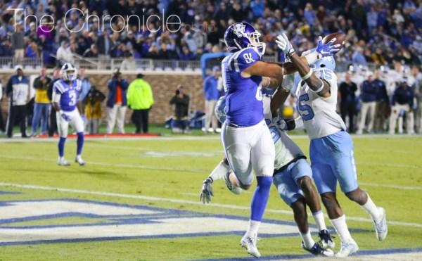 RAMS SILENCED: Duke football stuns North Carolina 28-27 ...