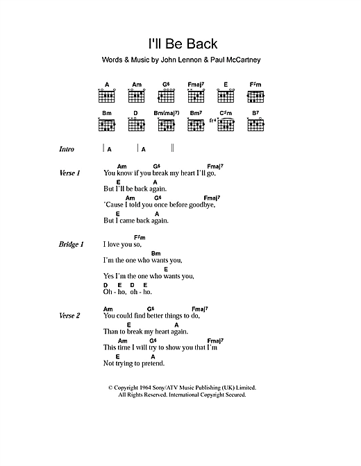 Nice Beatles Chords Photo Song Chords Images Apa Montrealfo