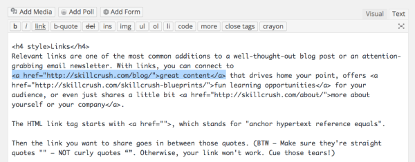 Supercharge your blog or newsletter with HTML tags ...