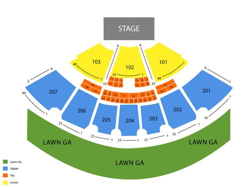 Ridgefield amphitheater seating chart