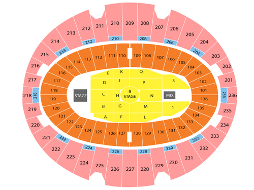 Forum Inglewood Seating Chart Eagles Concert