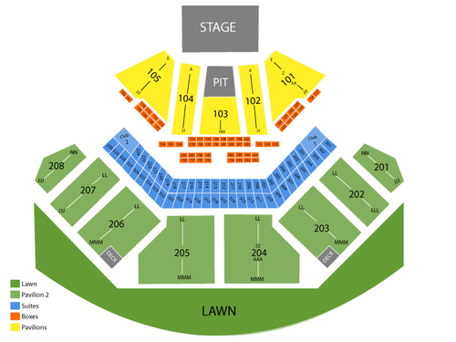 Hollywood Amphitheatre Il Seating Chart Events In Tinley Rh Goldcoasttickets Com Park Pit Seat Ga2
