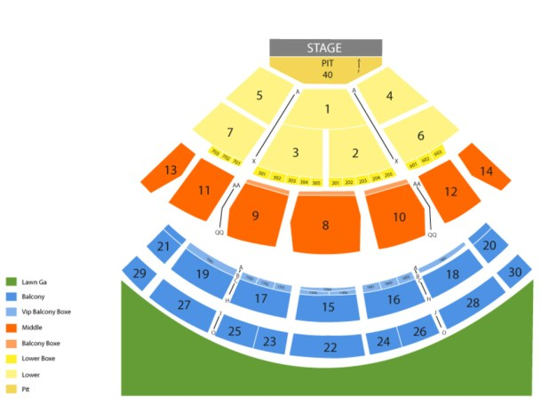 saratoga performing arts center seating chart