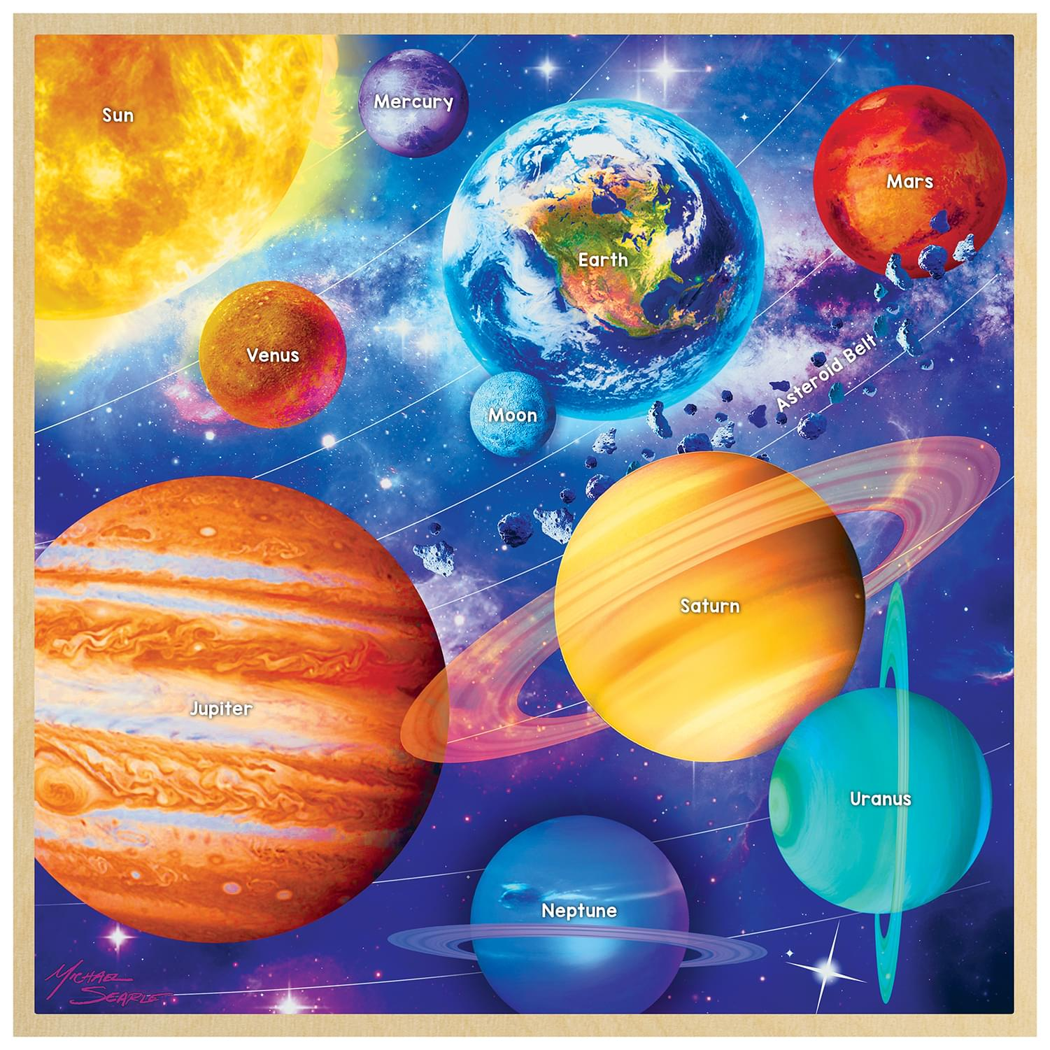 Solar System 48 Piece Real Wood Jigsaw Puzzle