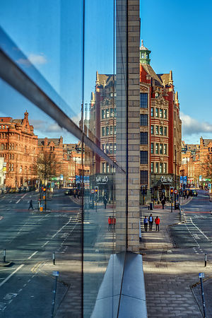 Cityscape | Manchester Canvas wall art | for sale | Reflections of Manchester