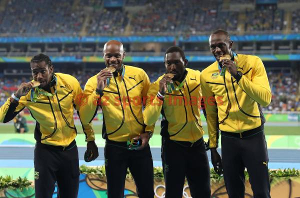 azsportsimages | 4x100m Jamaican Relay Team