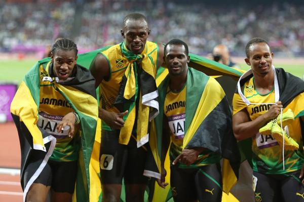 azsportsimages | The 4x100m Jamaican team