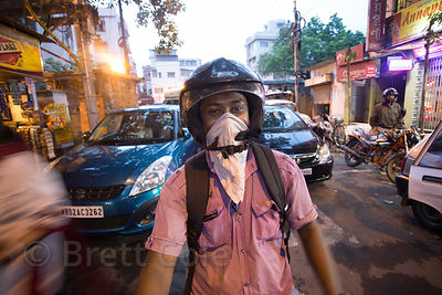 Image result for Indians wearing bandanas in traffic