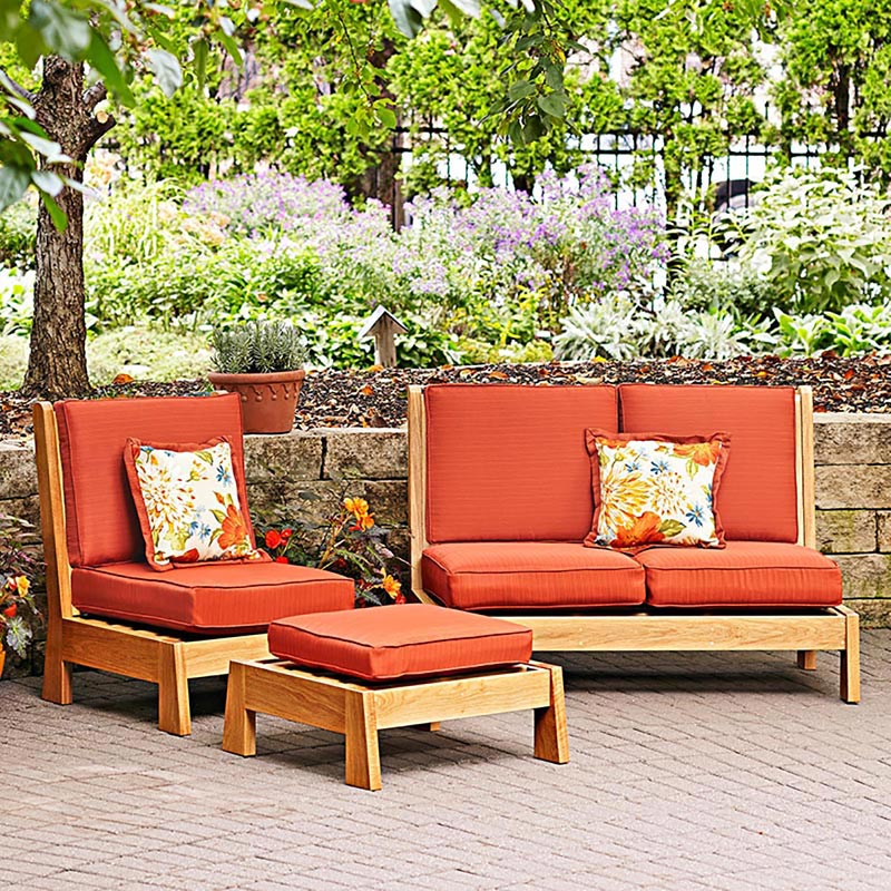 easy chairs patio set woodworking plan