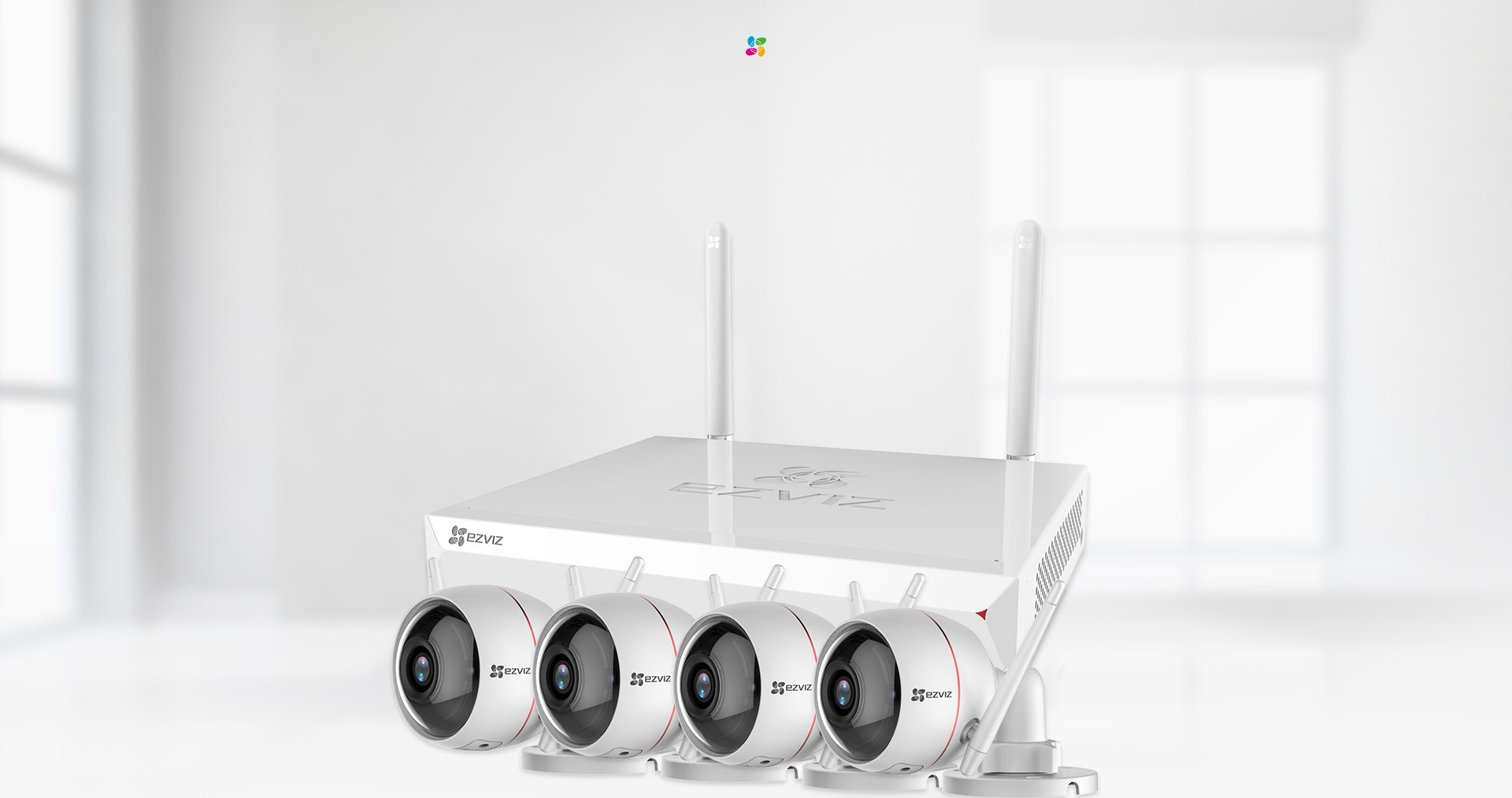 ezWireLess Kit  X5C (ezNVR) + C3W (ezGuard)  A comprehensive security kit with a wireless NVR and Wi-Fi cameras. Monitor and control your security system anytime, anywhere.