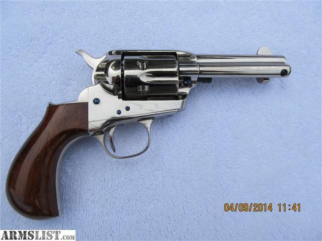 Blue Cimarron Grips Revolver Lightning