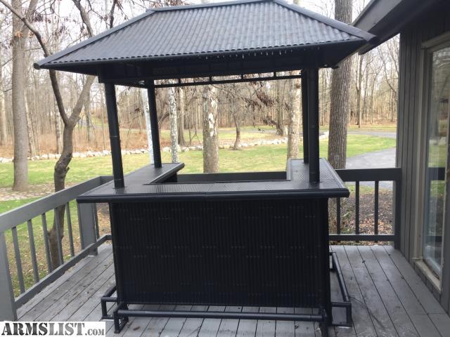 ARMSLIST - For Sale: Tiki Bar with chairs on Backyard Tiki Bar For Sale id=21726