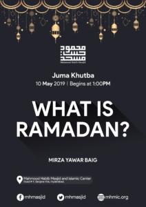 Juma Khutba – What is Ramadan by Mirza Yawar Baig at Mahmood Habib Masjid and Islamic Centre, Hyderabad
