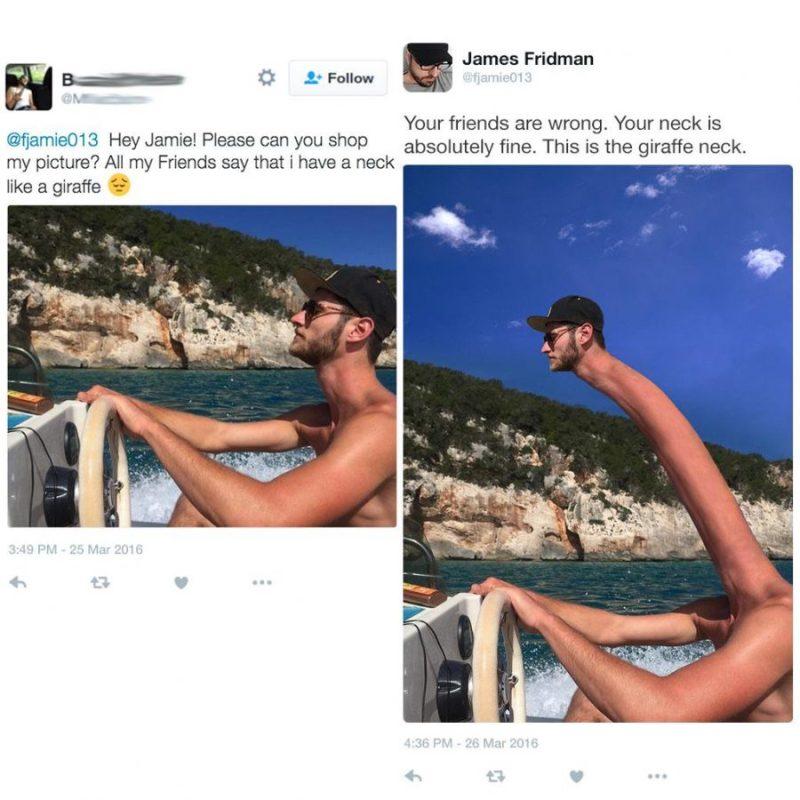 Divertidas ediciones de photoshop del famoso master trol James Fridman 6