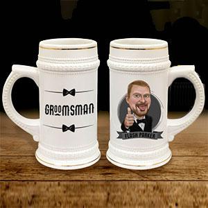 Personalized Beer Mug Stein Cartoon