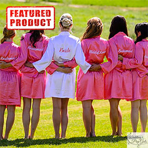 Short Satin Bridesmaids Robes