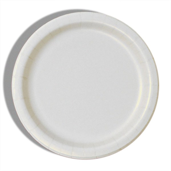 """9"""" White Paper Dinner Plates - Quantity: 8 - Household Supplies by Paper Mart"""