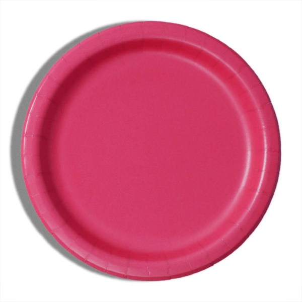 """9"""" Hot Magenta Paper Dinner Plates - Quantity: 8 - Household Supplies by Paper Mart"""