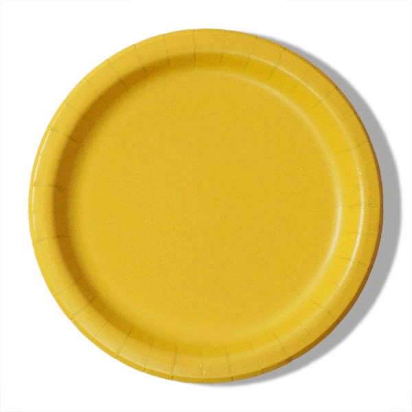 """7"""" Yellow Paper Lunch Plates - Quantity: 8 - Household Supplies by Paper Mart"""