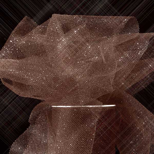 """Brown Sparkling Tulle Roll - 6"""" X 25yd - Fabric - Width: 6"""" by Paper Mart"""