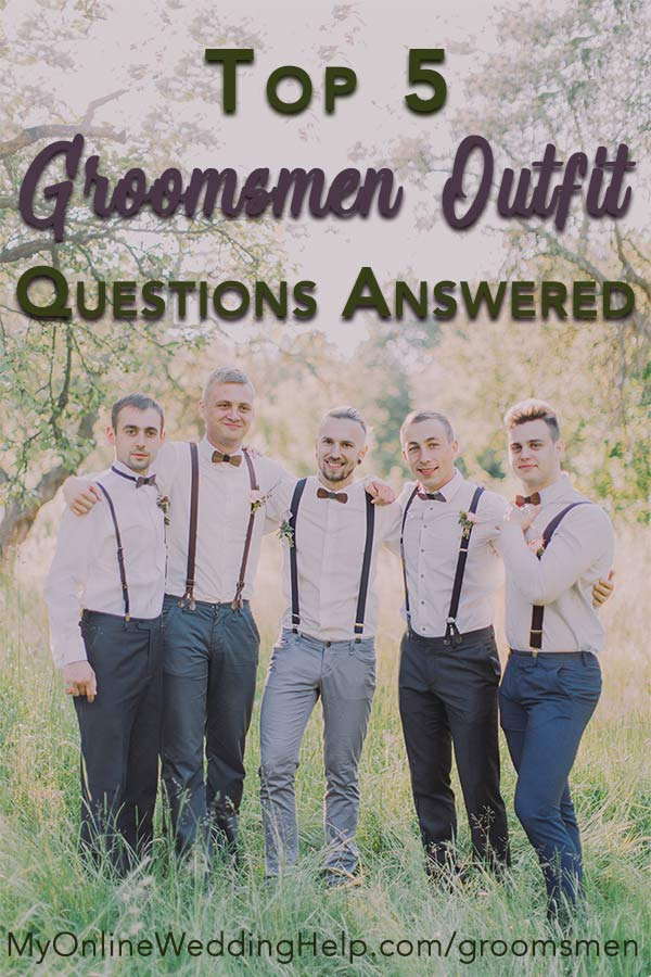 Suits Or Other Groomsmen Attire Ideas 5 Guys Wedding