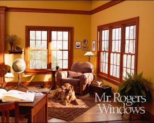 double hung stained windows