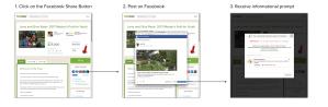 Facebook donate button information