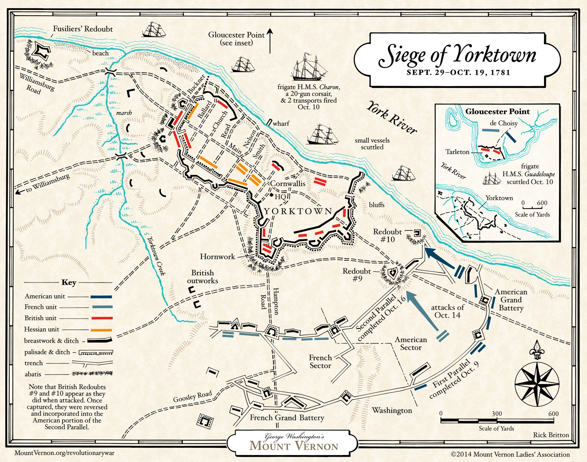 Yorktown Campaign George Washington S Mount Vernon