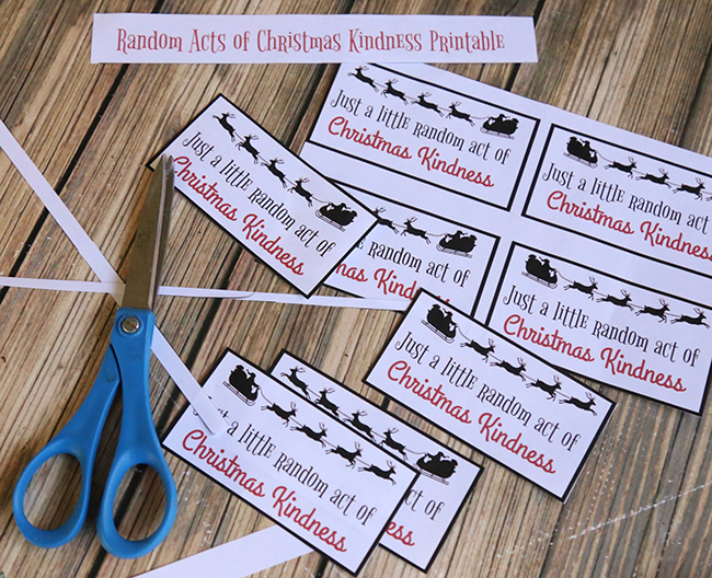 Random Acts Of Christmas Kindness Printable MyPrintly