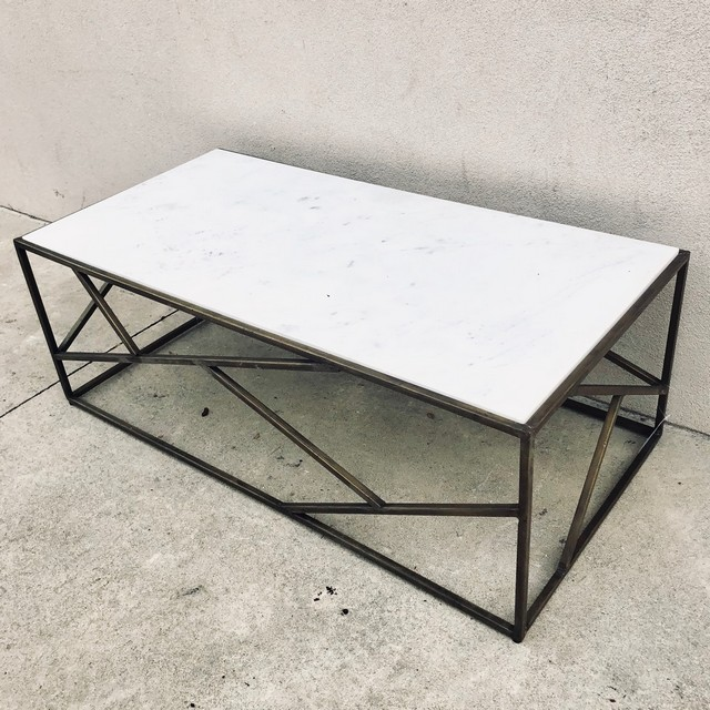 iron stone coffee table