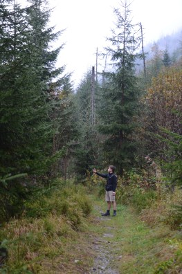 Max explaining the virtues of an old growth forest