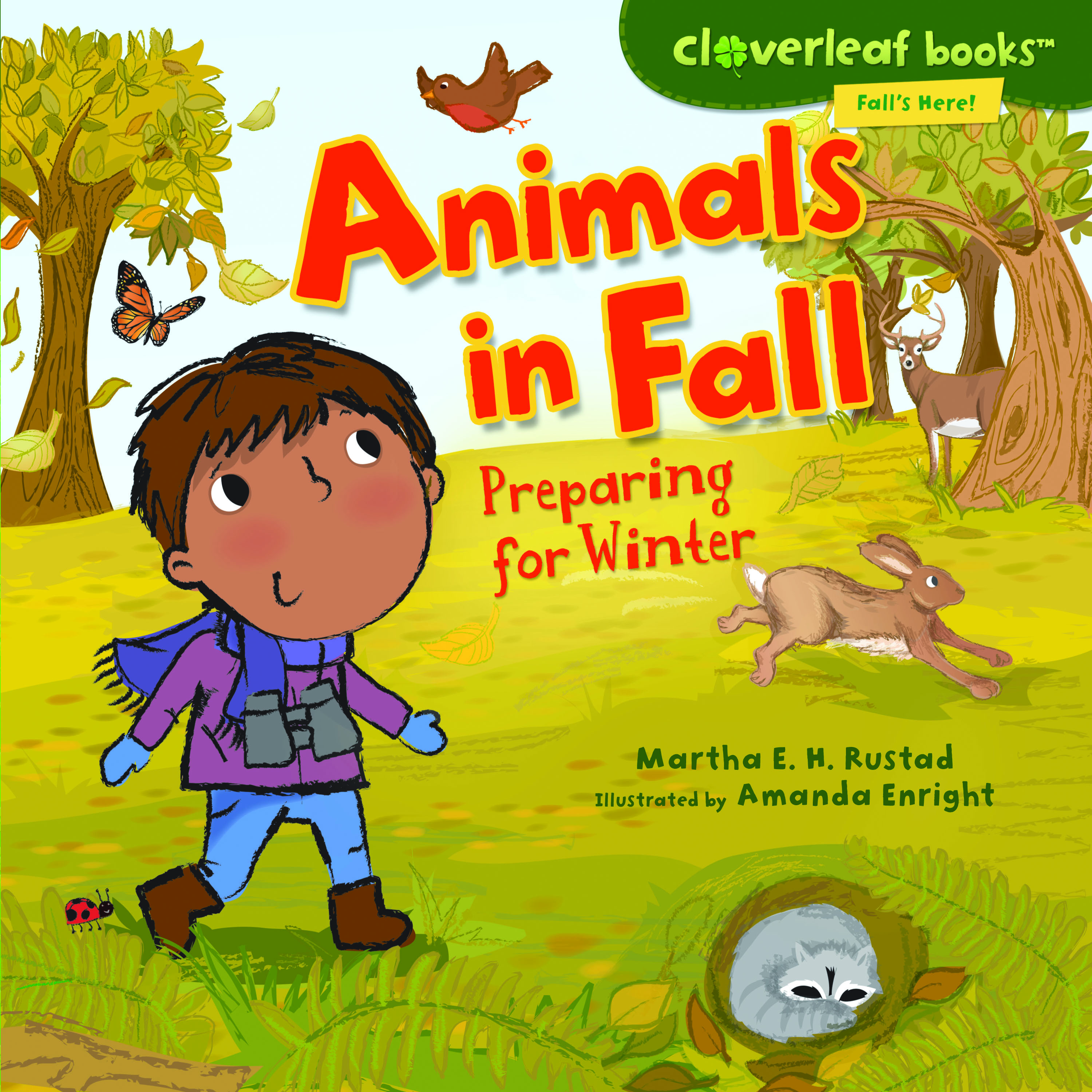 Crowding The Book Truck Animals In Fall Preparing For