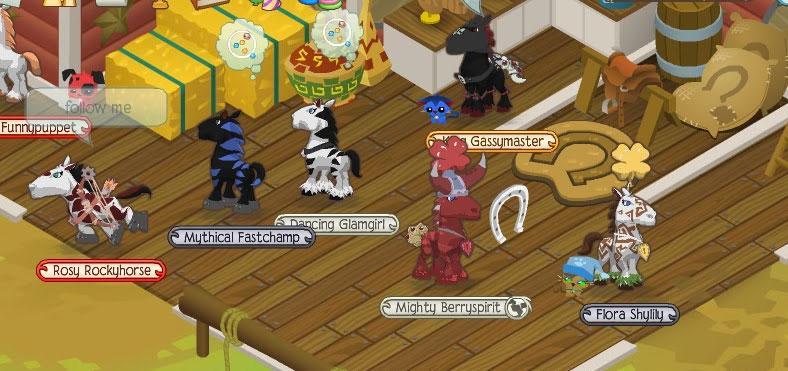 Animal Jam   Horse Games Online Animal Jam Horse Party