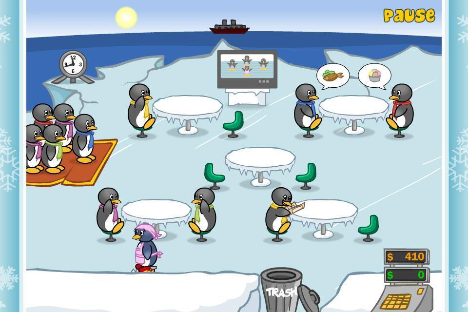 Restaurant Games Penguin Diner